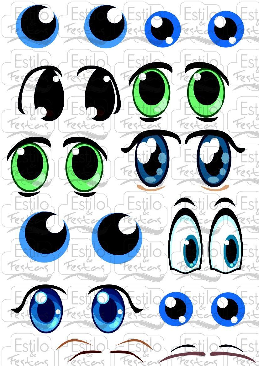 Adesivo De Olhos ~ Adesivo para bal u00e3o Cartela com Olhos de Bonecos Acessorios para Festas ojos para imprimir