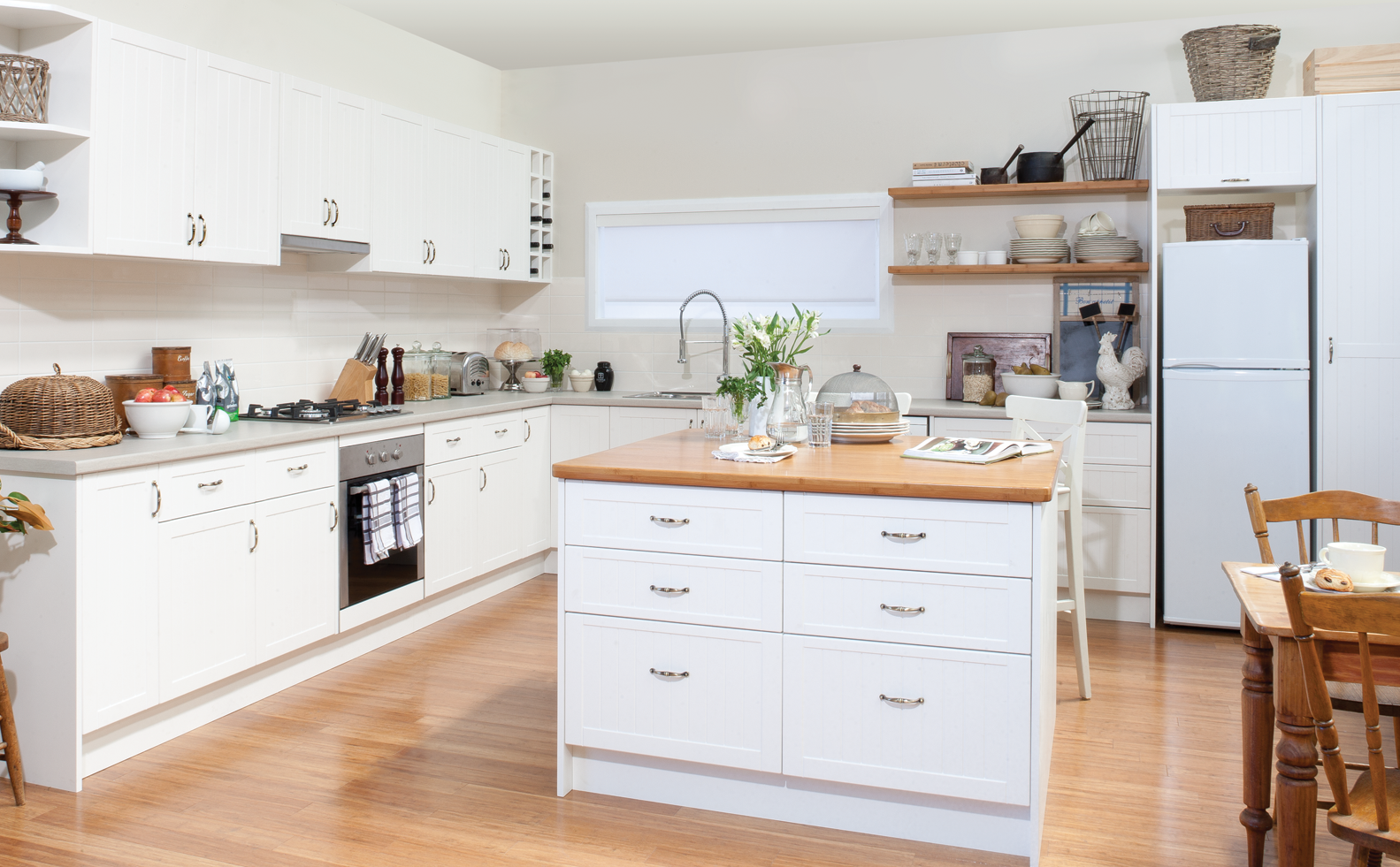 city meets country kitchen inspiration package at bunnings warehouse kitchen inspirations on kaboodle kitchen storage id=13488