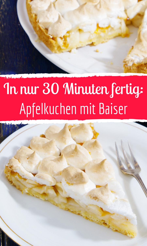 Apfelkuchen mit Baiser #kochenundbacken