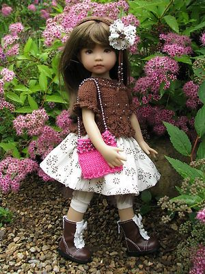 """CHOCOLATE DELIGHT! with BOOTS by Tuula fits Effner 13"""" Little Darling to a """"t""""!"""