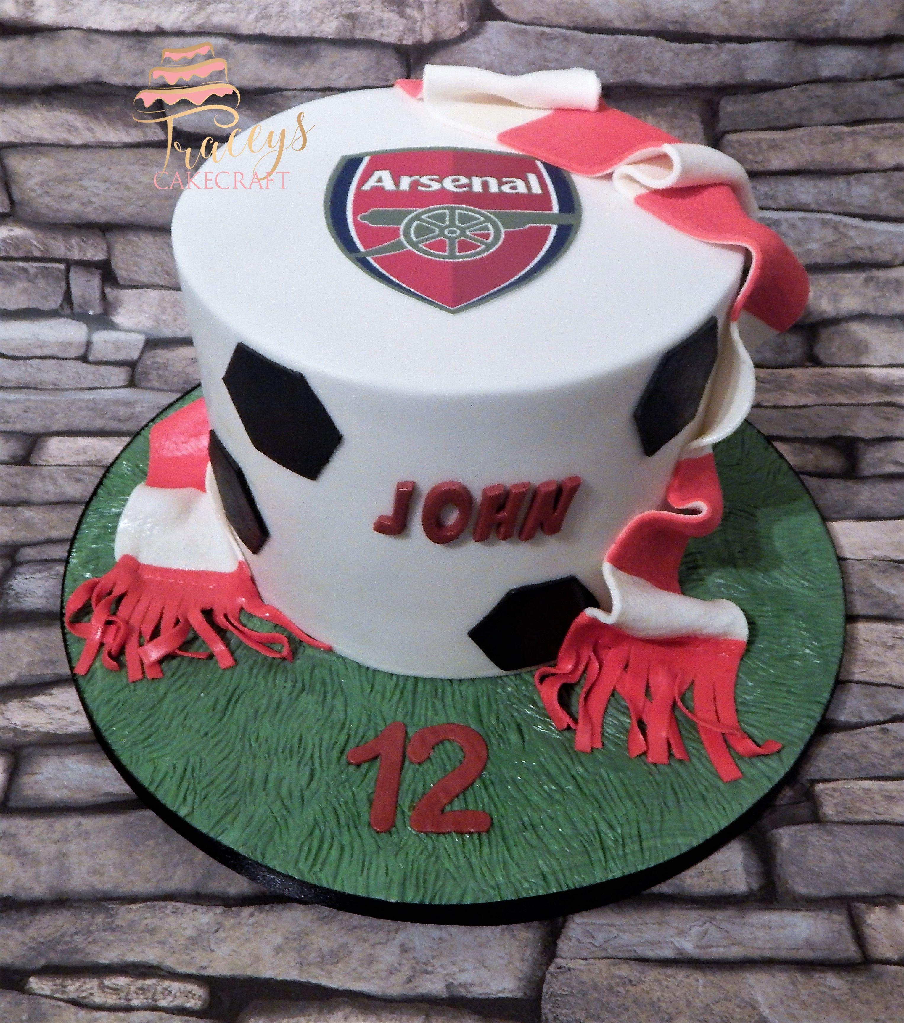 Arsenal FC Football Cake Let Them Eat Cake Pinterest Cake - Football cakes for birthdays