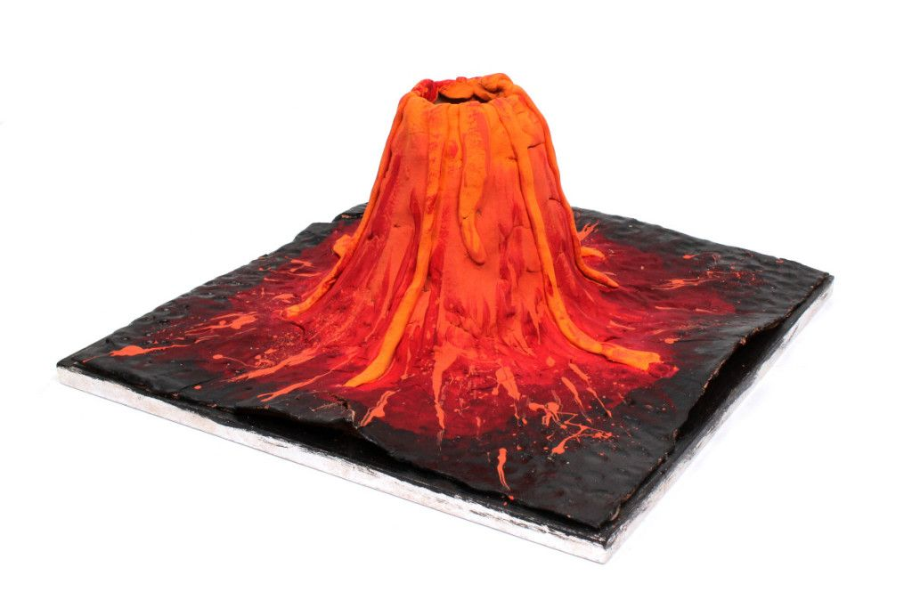 How to make a volcano model for school