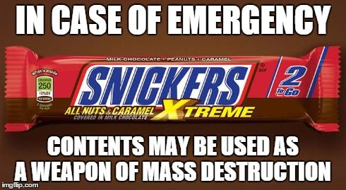 #Snickers Xtreme emergency protocols