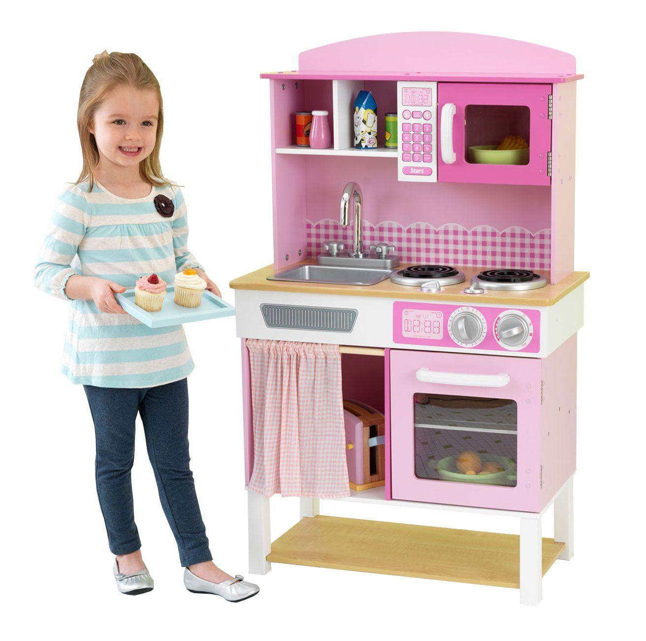 Kuchnia Drewniana Home Cookin Dla Dzieci Domowa Kidkraft Https Brykacze Pl Kuchnia Drewniana Home Cooki Childrens Play Kitchen Wooden Play Kitchen Kidkraft