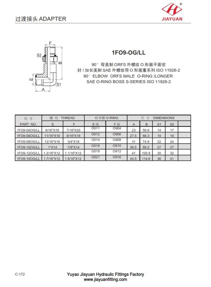 China custom elbow orfs tube orb s fittings manufacturers