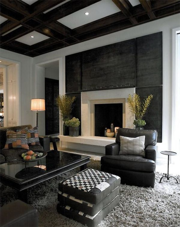 8 Male Living Space Design Inspirations Masculine Living