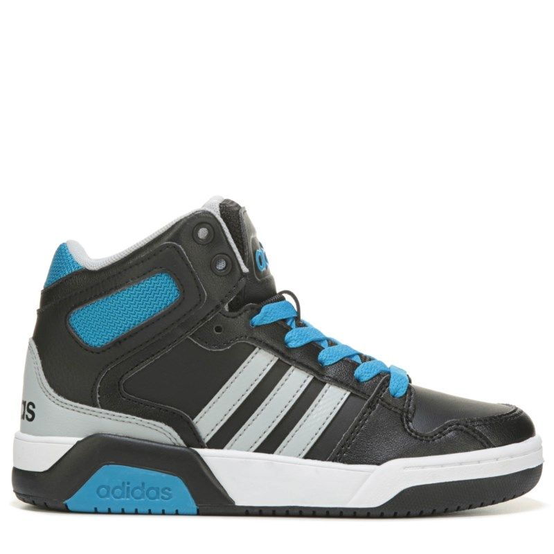 Adidas Kids Neo BB9TIS High Top Sneaker Pre Grade School Shoes Black Blue
