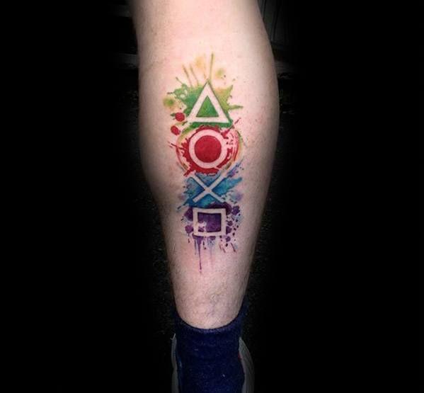 50 Playstation Tattoo Designs für Männer – Videospiel-Tinten-Ideen - Mann Stil | Tattoo