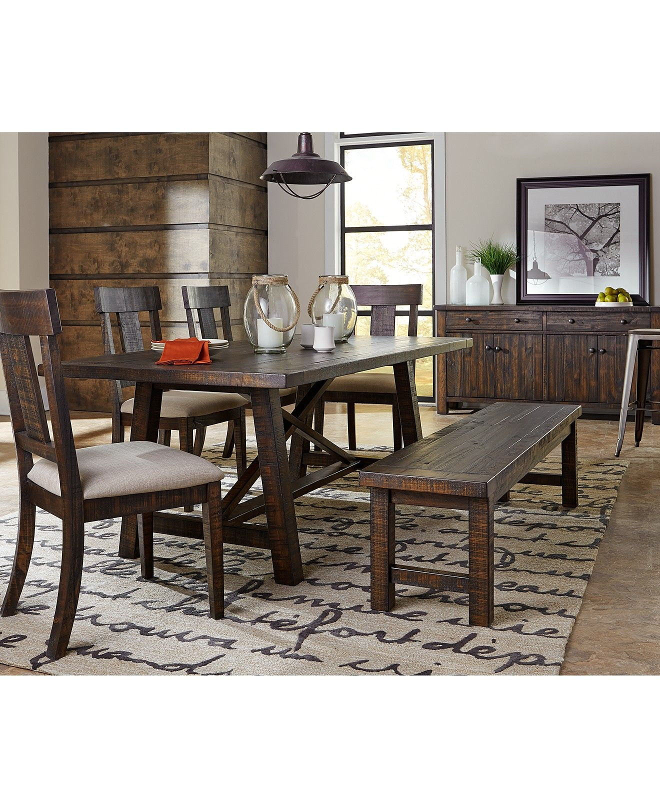 ember 6-piece dining room furniture set - furniture - macy's