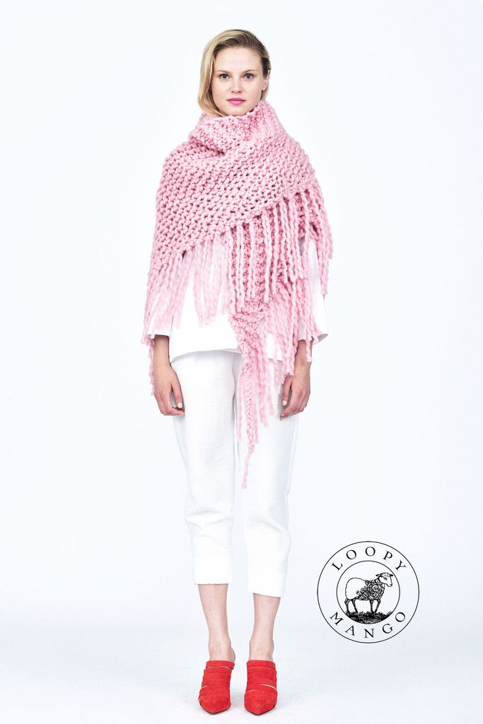 Her fringe Shawl from Her Collection by Loopy Mango made with our ...