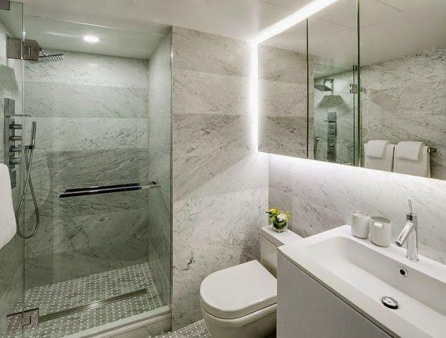 Apartamento en esquema de color gris con amarillos ideas for Diseno de habitacion con bano privado