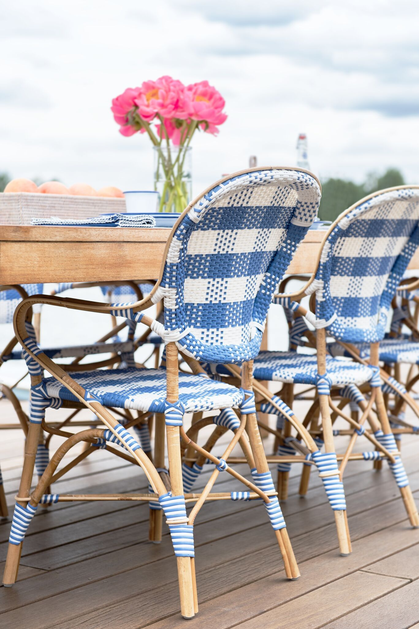 Beautiful French Blue Bistro Chairs Perfect For Summer Parties | Caitlin  Wilson