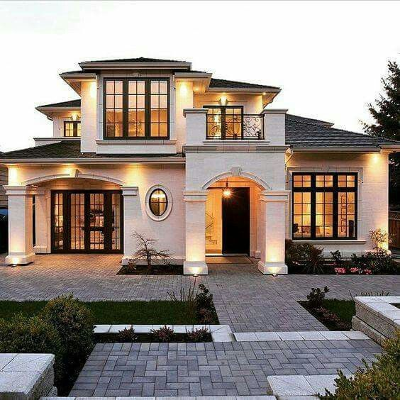 Stunning Home Exterior White Stucco Mediterranean French Style