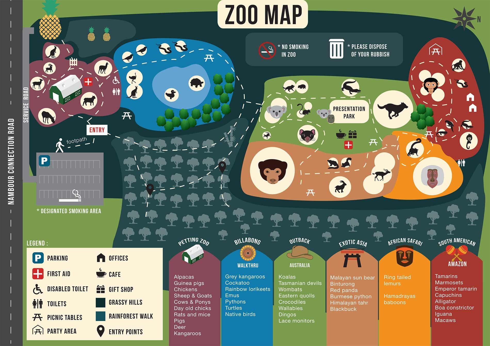 australia zoo map google