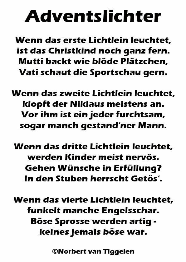 Weihnachten Advent Van Tiggelen Gedichte Menschen Leben