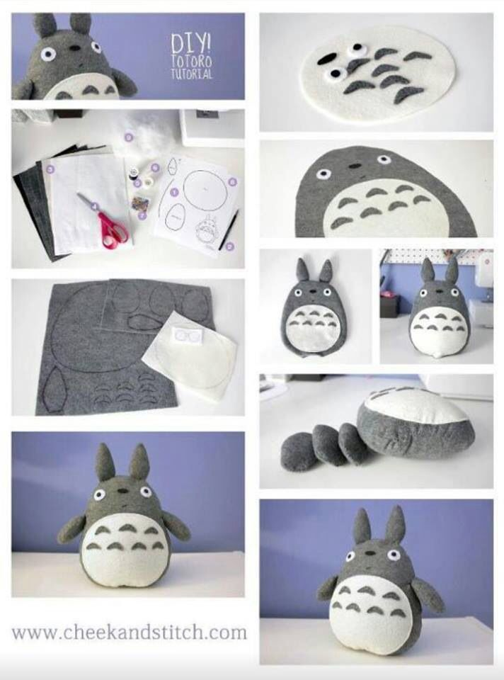 totoro | Totoro | Pinterest | Peluches, Costura and Manualidades