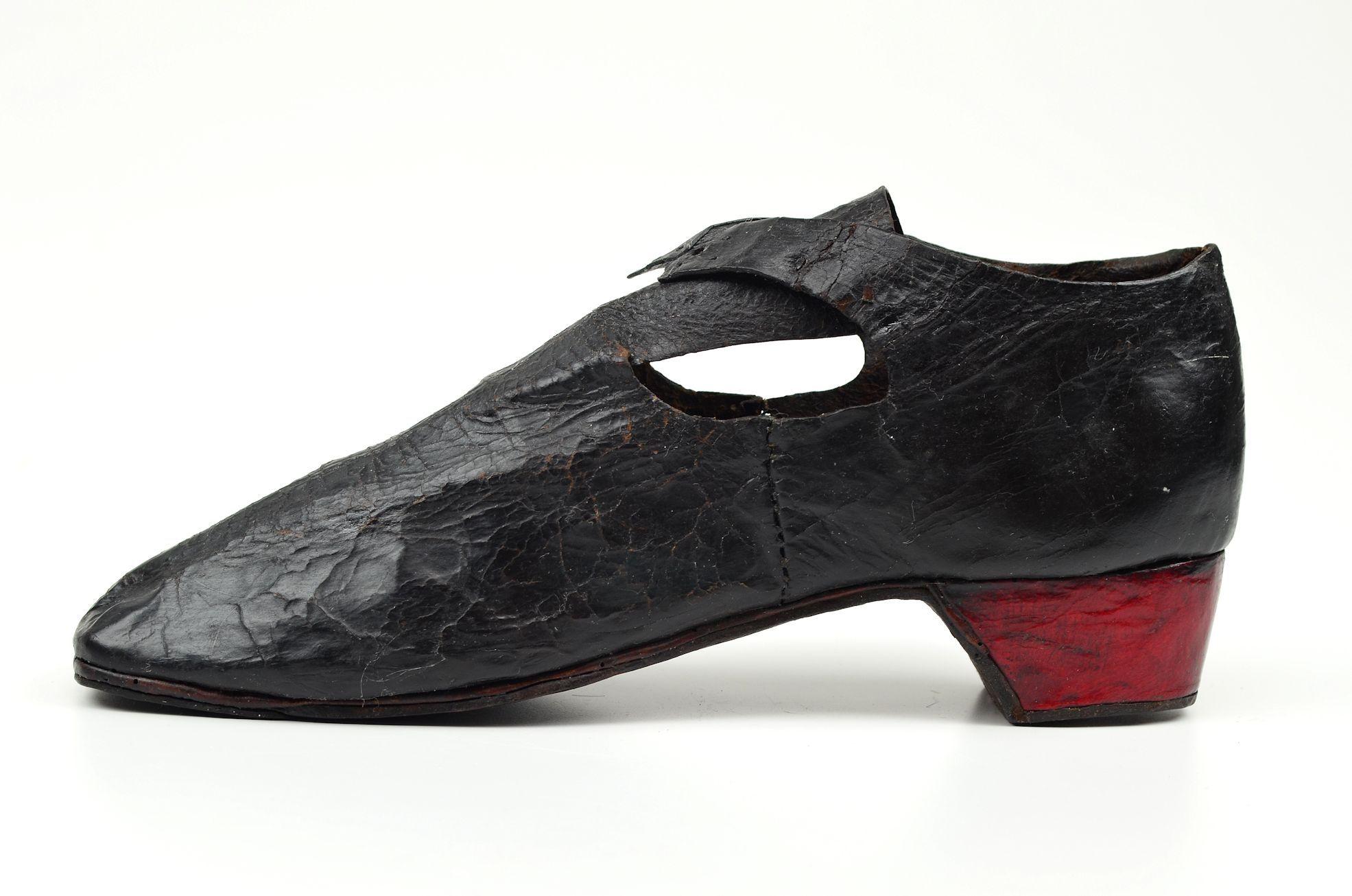 Man's shoe, c. 1675. Museum Weißenfels.