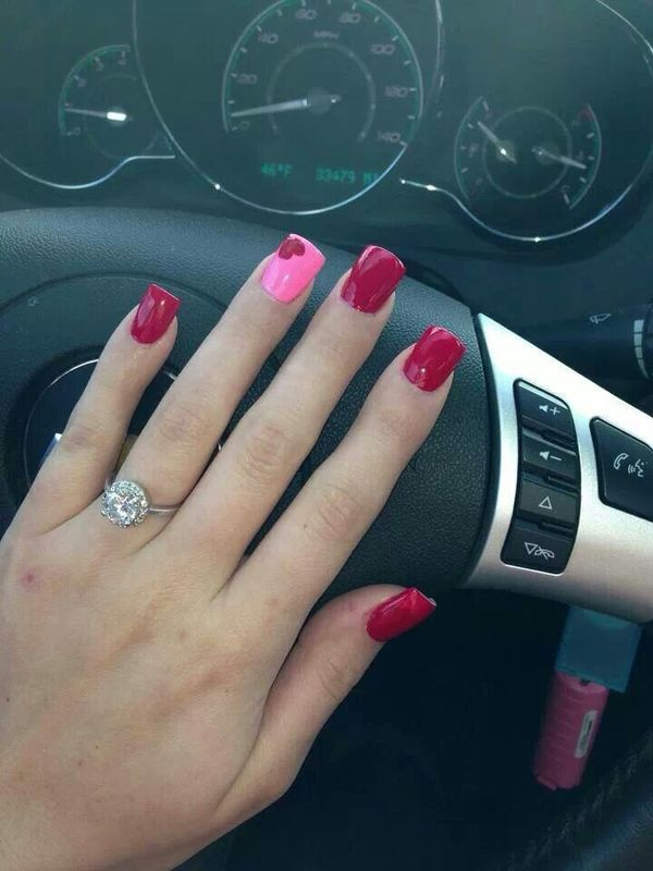 Cute And Simple Diy Valentine Nails Diy Valentine S Nails Nail Designs Valentines Valentines Nail Art Designs