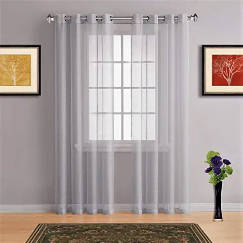 Amazon Com 108 Inch Curtains Grey Under 25 Prime Eligible Grommet 108 To 119 Inche Home Kitchen In 2020 Curtains Patio Curtains Living Room White