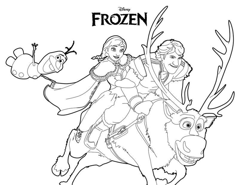 Frozen Coloring Pages Anna And Kristoff Family Gambar Film Animasi Frozen
