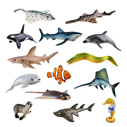 Realistic Blue Whale Ocean Animals Action Figure Model Toys for Kids Bathing