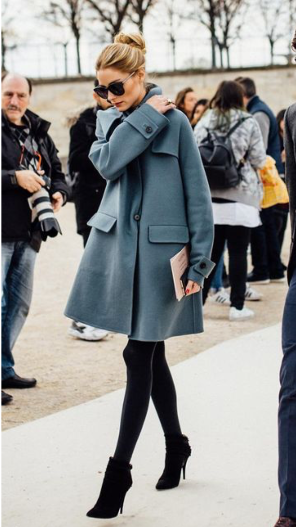63ce449c925 Light blue coat - fall outfit Olivia Palermo Winter Style