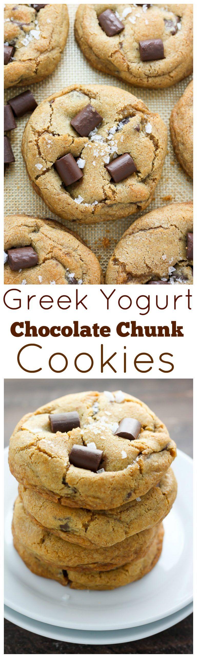 Greek yogurt chocolate chunk cookies recipe chocolate