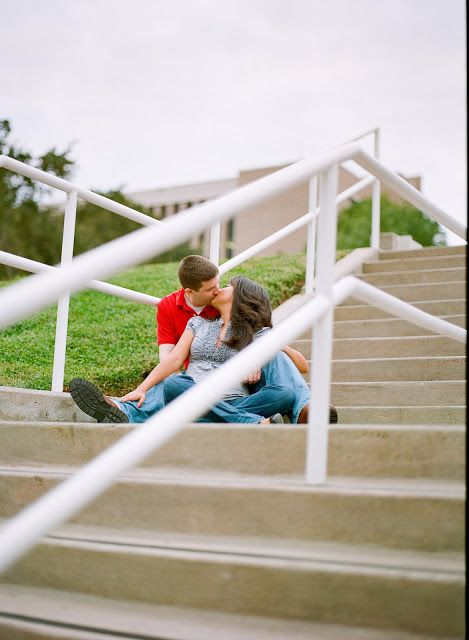 Love kissing this man!   Engagement Photo at University of Houston by Reg Campbell