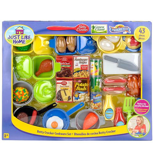 Just Like Home Toy Food : Just like home betty crocker cookware set pieces