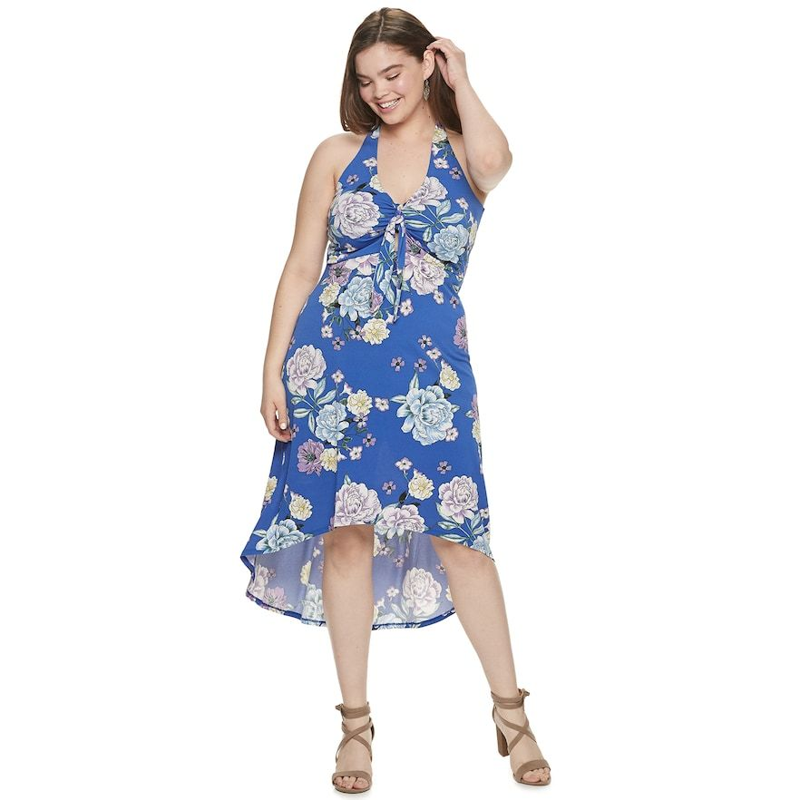 Juniors\' Plus Size Candie\'s High-Low Maxi Dress, Girl\'s ...