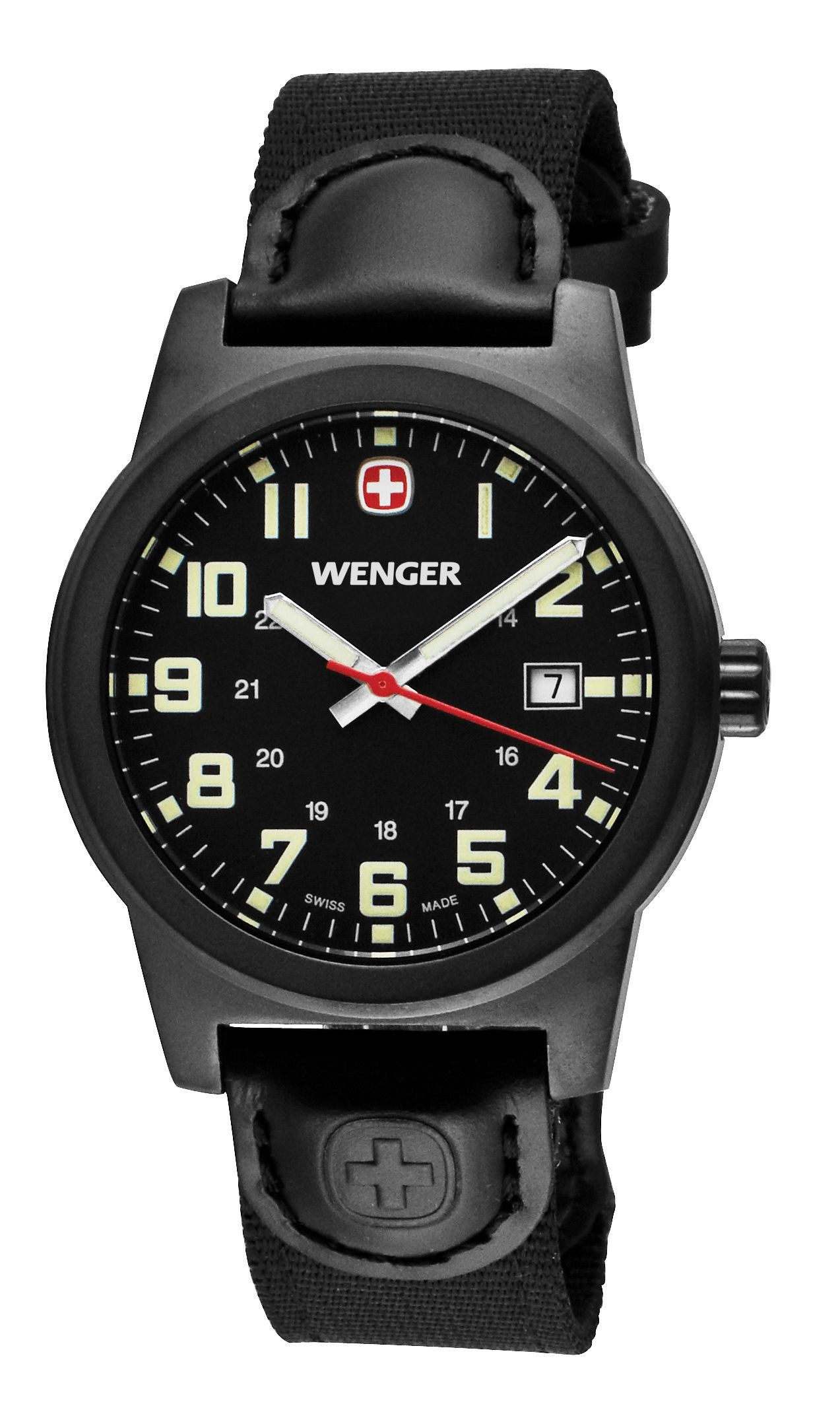 48ccbb959fd Wenger Field Classic - Black Dial and Black Nylon Band Wrist Watch - Men s  - Victorinox - Swiss Army