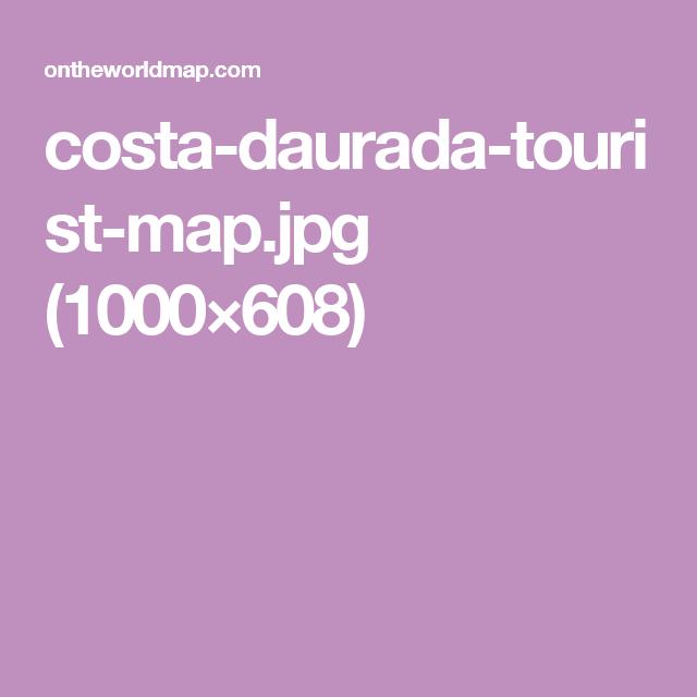 costadauradatouristmapjpg 1000608 Barcelona Pinterest