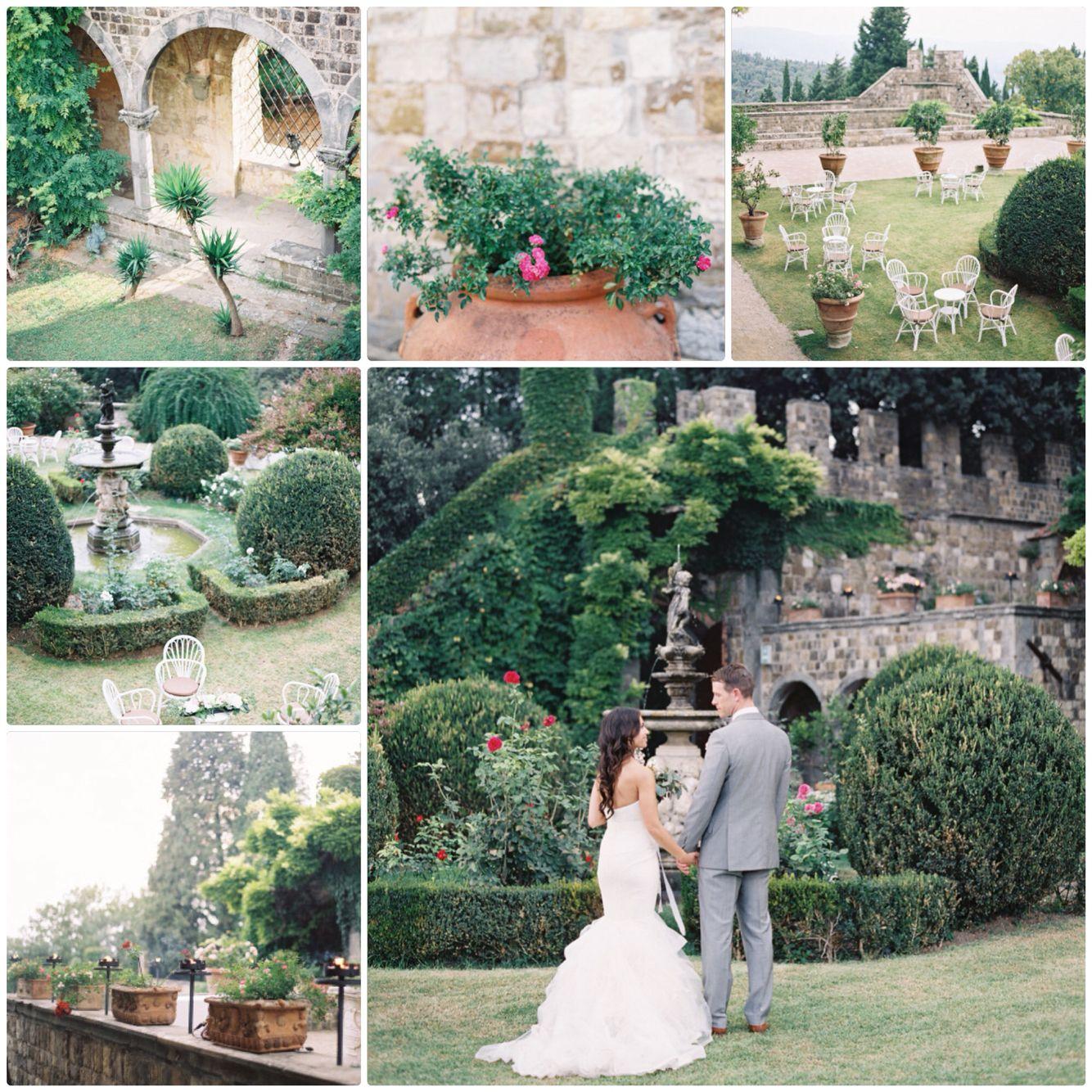 Castello Di Vincigliata, Florence Italy Wedding. Beautiful 13th century stone castle located in the Tuscan hills