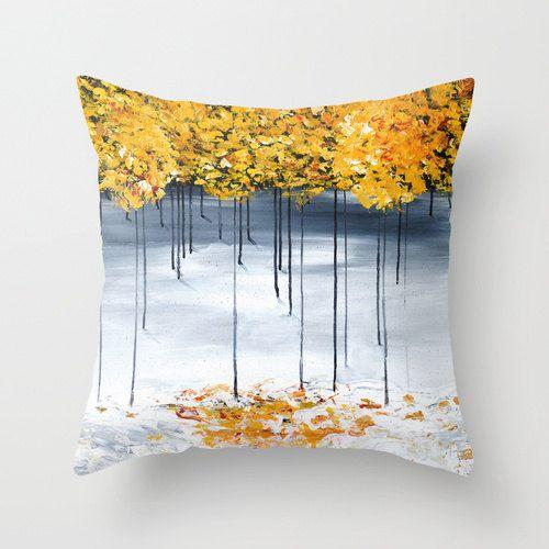 Gray Yellow Pillow Cover Throw Pillows Decorative Pillow Cushion Enchanting Gray And Yellow Decorative Pillows