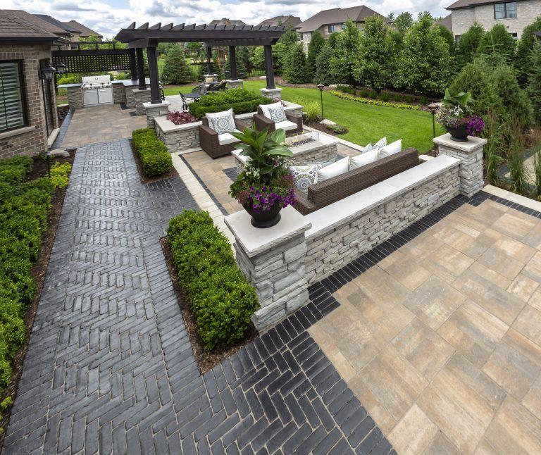 unilock patio built with Bristol valley and Copthorne ... on Unilock Patio Ideas id=60605