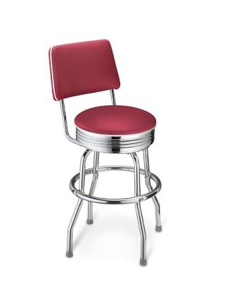 Cushion Back Diner Stools 24 Reupholster Chair Dining