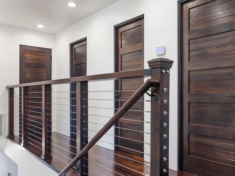 Gallery Interior Railings Cable Stair Railing Modern | Cable Stair Railing Diy