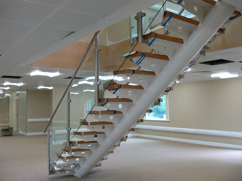 Best A Steel Floating Staircase With Stainless Steel Handrails 400 x 300