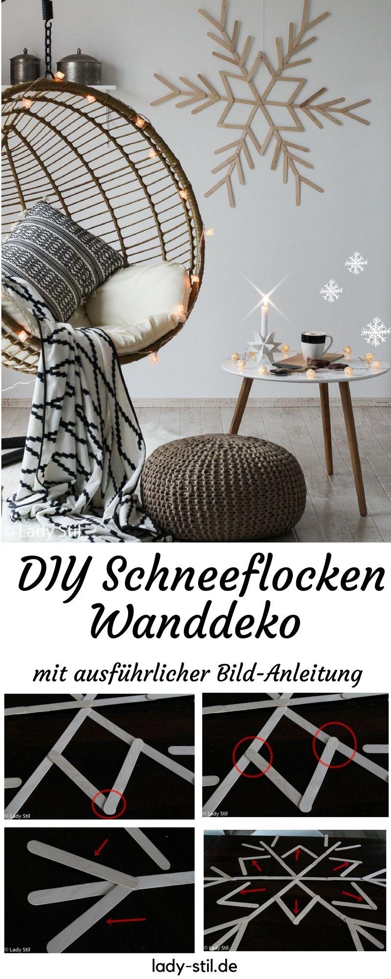 diy schneeflocke aus eissstielen winterliche. Black Bedroom Furniture Sets. Home Design Ideas