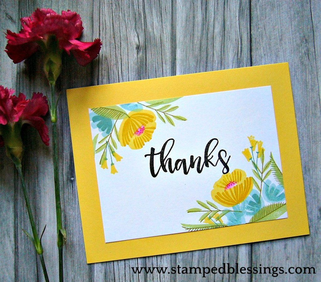 Ctmh national stamping month stamped blessings card ideas