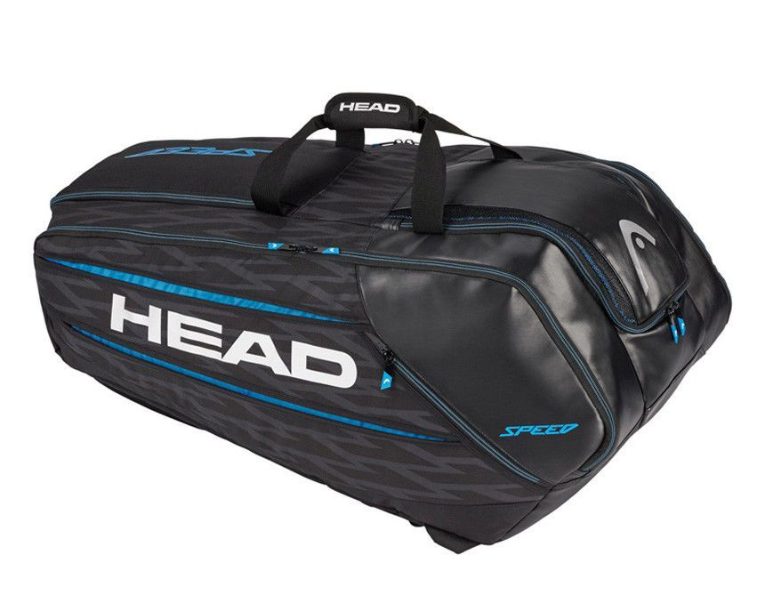 Head Speed Smu 12r Monstercombi Tennis Badminton Racquet Bag Black Blue 283207 Head Tennis Racquet Bag Tennis Bag Head Tennis Bag