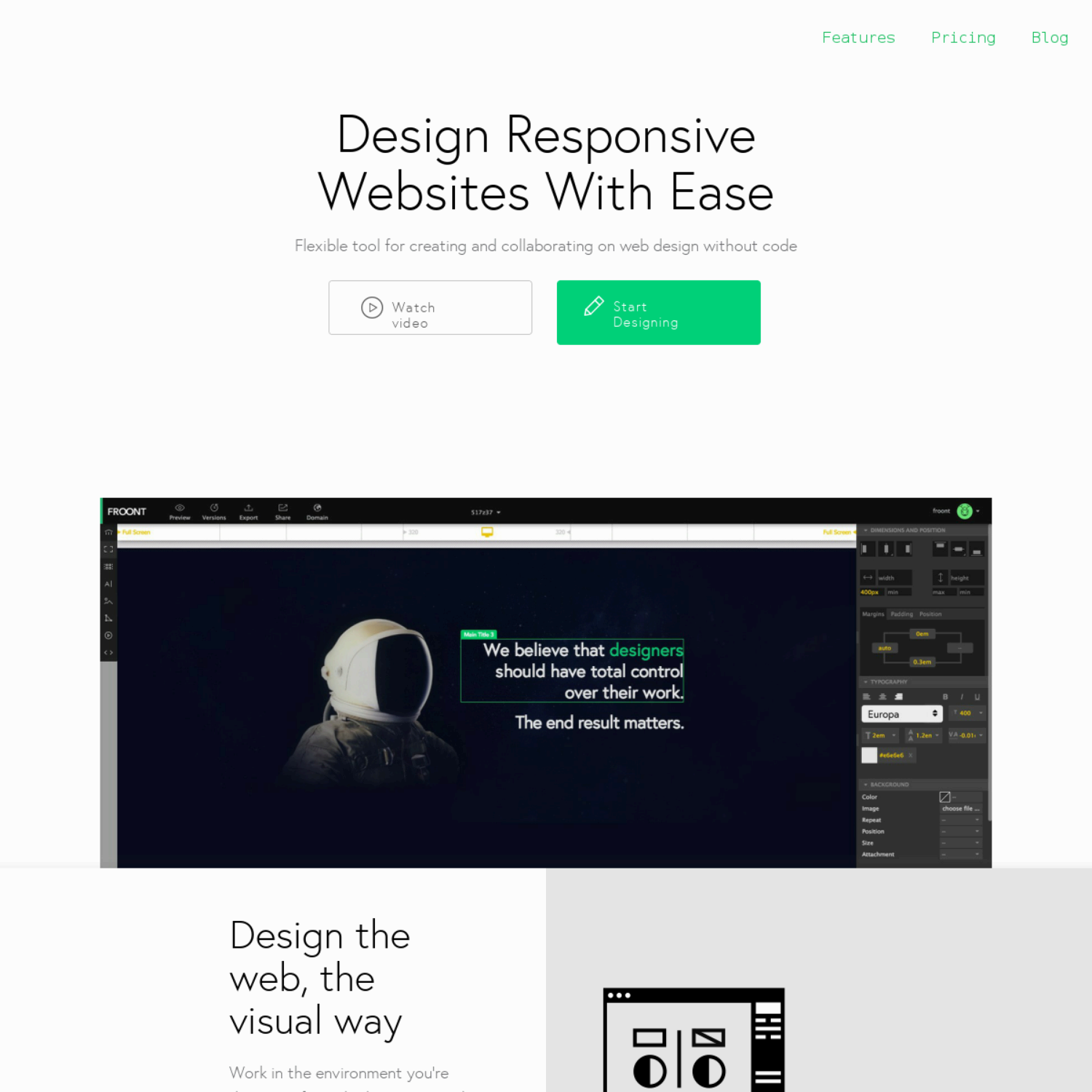 Design Responsive Websites With Ease - Flexible tool for creating and collaborating on web design without code - prototyping tool