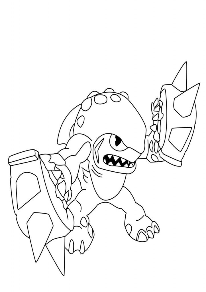 Skylanders Giants Coloring Pages To Print Video Game Coloring
