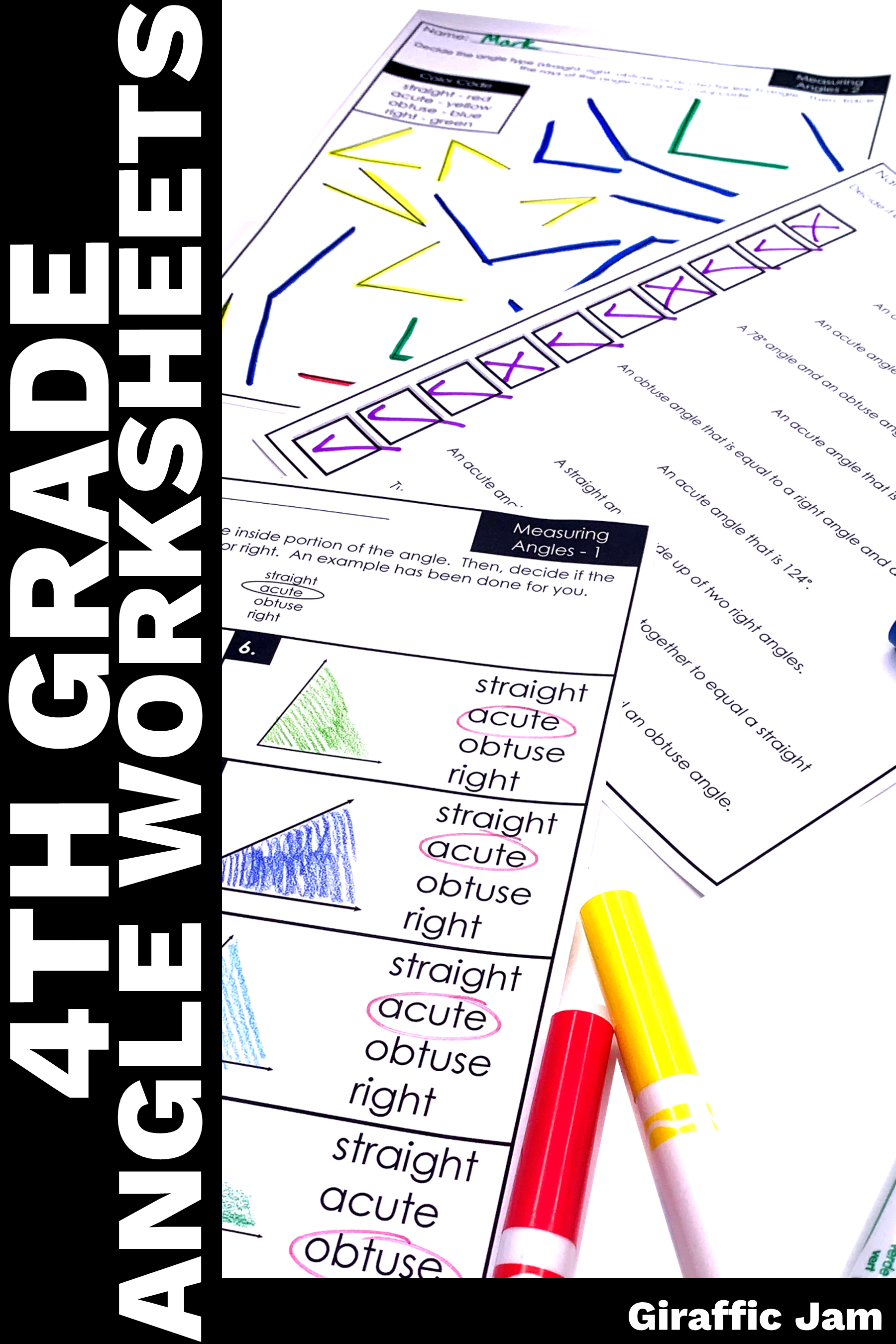 4th Grade Angles  Measuring Angles   Drawing Angles   Measurement Worksheets    4th Grade Math Work…   Measurement homework [ 2700 x 1800 Pixel ]