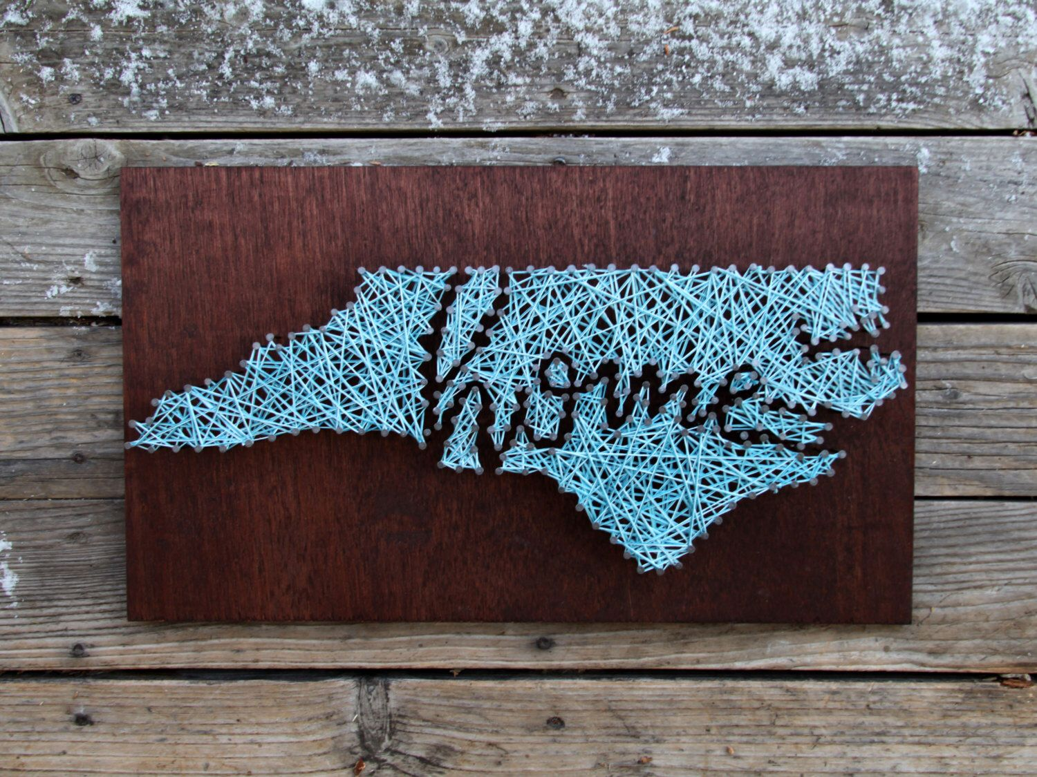 Idaho Home String and Nail Art | North carolina, String art and Etsy