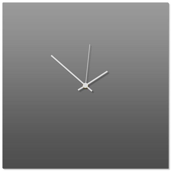 Contemporary Clock Grayout Square Clock By Adam Schwoeppe