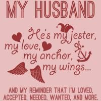 My Husband, My Love - Tell everyone how great your husband is: http://www.cafepress.com/lovemarriage