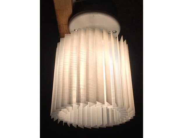 Chevron Lampshade By Dleppik Thingiverse Lamp Edison Light Bulbs Lampshades