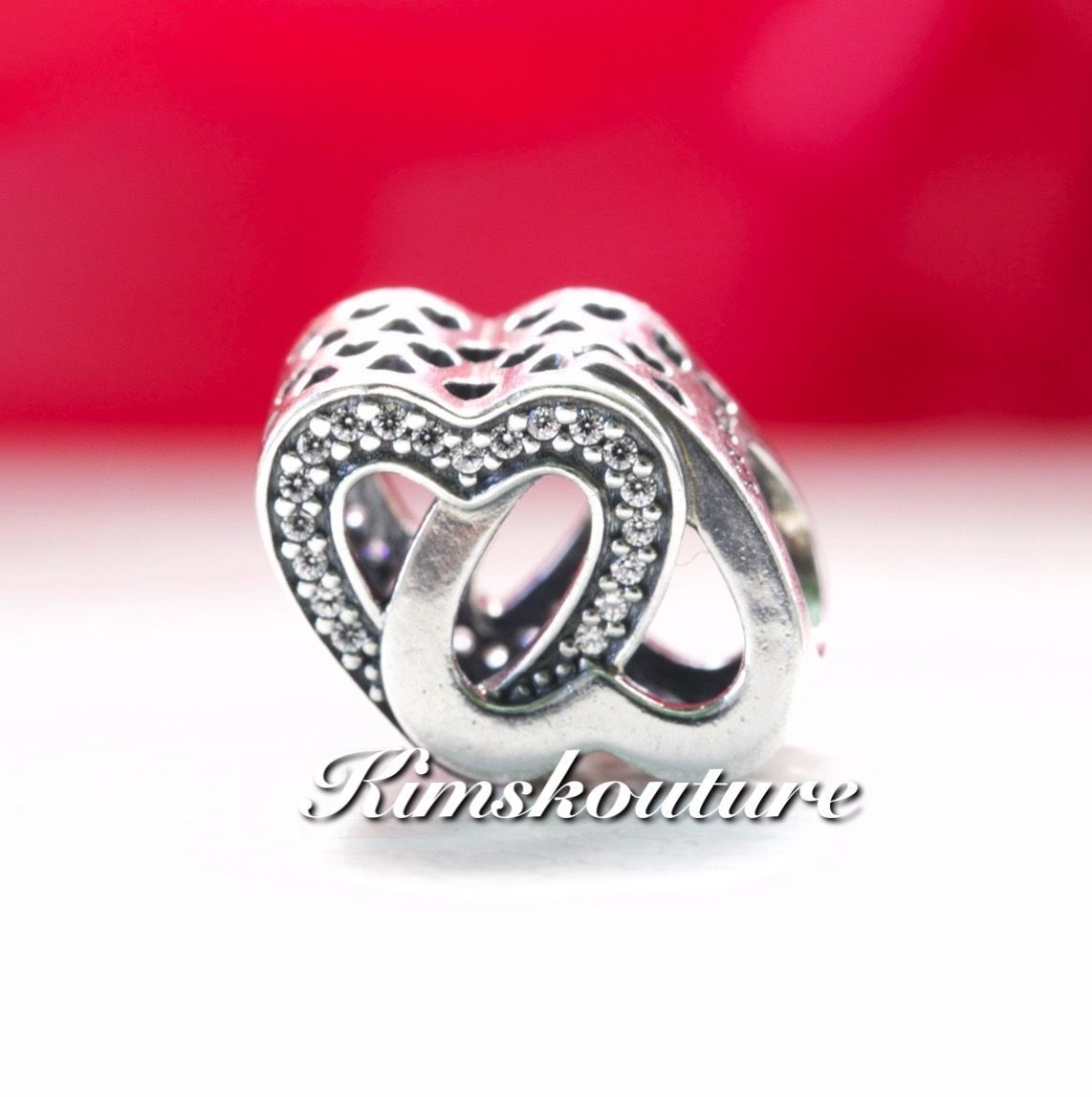 7d72aad7b Details about Authentic Pandora Entwined Love Charm 791880CZ ...