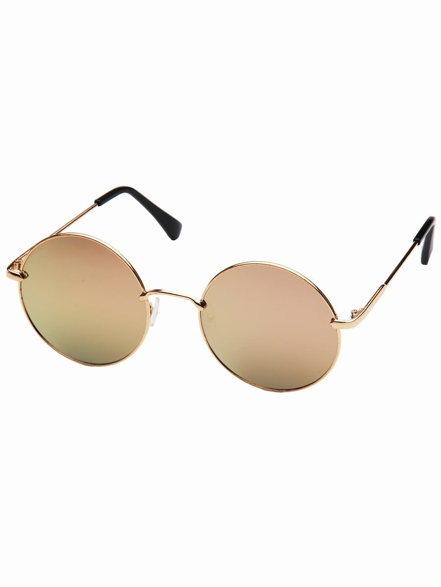 4324a8dfd2 Metal Frame Round Lens Sunglasses in 2019 | Sunglasses 2019 | Round ...